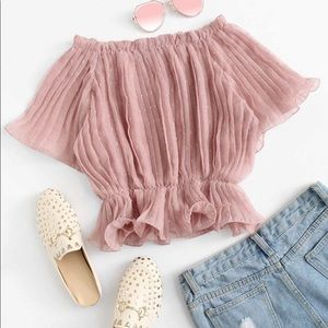 Ethereal Blush Cinched Blouse